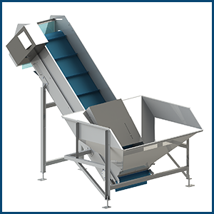 Modular inclined conveyors or inclined conveyor belts