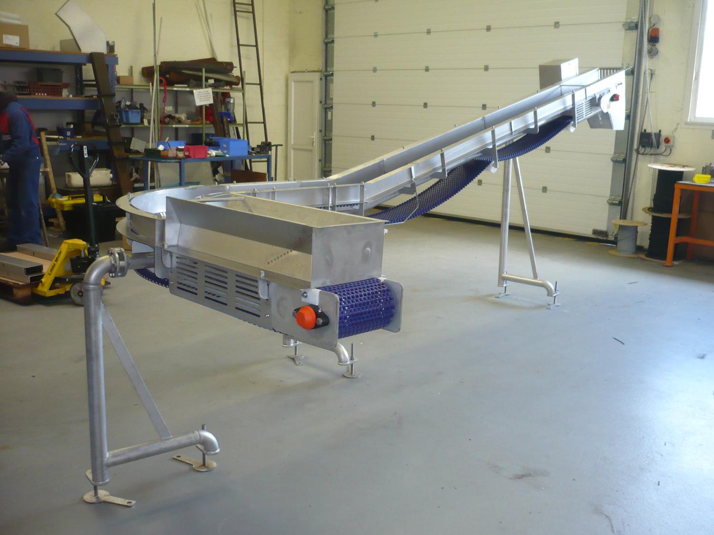 Convoyeur modulaire courbe de conception Hygienique